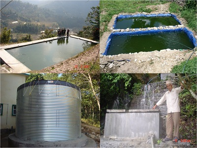 Different Types of Water Collection and Storage Facilities, Sikkim